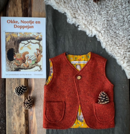 Wool Vest Rust Squirrel  122/128