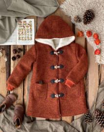 Wool Coats Winter Round Hood