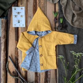 Linen Jacket Ochre Yellow Bees
