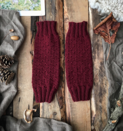 Wool Leg Warmers Plum