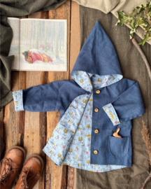 Linen Jacket Blue - Forest Blue
