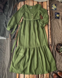 Bohemian Maxi Dress Mossgreen