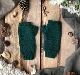 Wool Wrist Warmers Forest Green