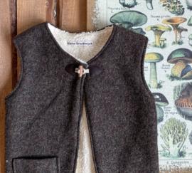 Wool Vest Winter Earth Tones