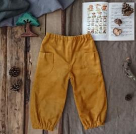Corduroy Trousers Ochre Yellow