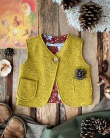 Wool Vest Ochre Little Fox 98/104
