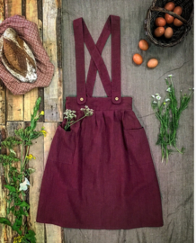 Apron Dress Women Plum