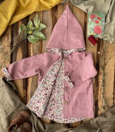 Linen Jacket Vintage Pink - Wild Flowers