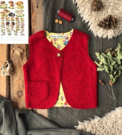 Wool vest Red Gnome 86/92