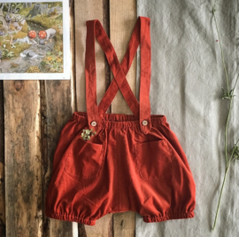 Suspender Shorts Terracotta