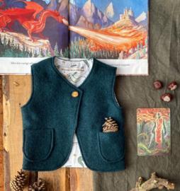 Wool Vest Forest Green Michaelmas Size 74/80