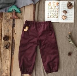 Corduroy Trousers Aubergine