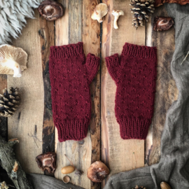 Wool Wrist Warmers Plum