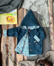 Linen Jacket Forest Green - Little Forest