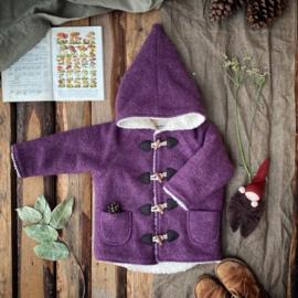Wool Winter Coat Mauve 134/140