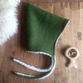 Wool Pixie Hat Moss Green