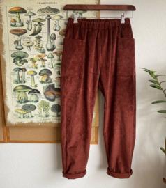 Trousers Corduroy Terracotta