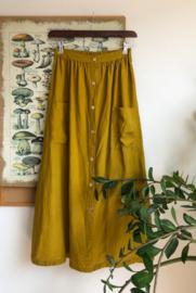 Maxi Skirt Linen Mustard