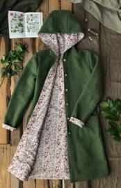Women's Wool Spring / Autumn Coat Moss Green