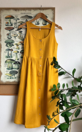 Spring / Summer Dress Double Gauze Ochre
