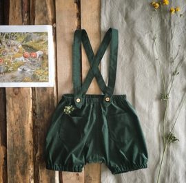 Suspender Shorts Forest Green