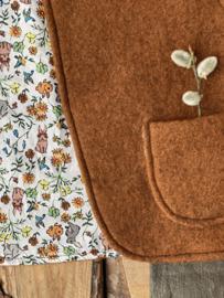 Wool vest Brown - Little bunnies 74/80