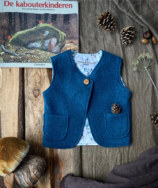 Wool vest Petrol Little Forest 86/92