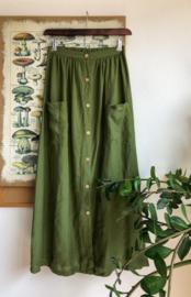 Maxi Skirt Linen Moss Green