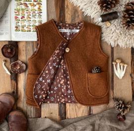 Wool Vest Brown Woodland Size 98/104