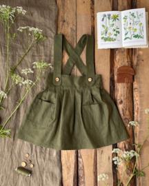 Apron Dress Linen Moss Green