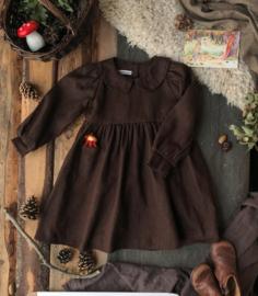 Collar Dress Coffee Brown