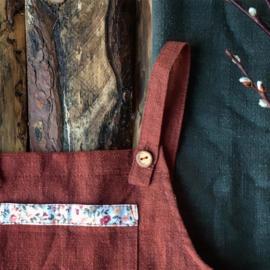 Apron Dress Wildflower - Terracotta