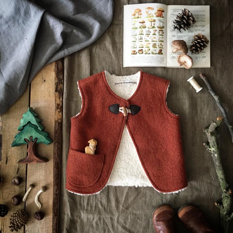 Wool Vest Winter Terracotta