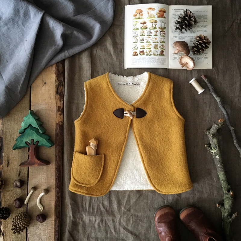 Wool Vest Winter Ochre