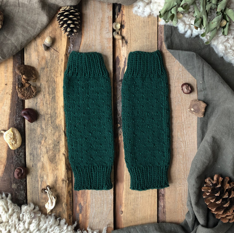 Wool Leg Warmers Forest Green
