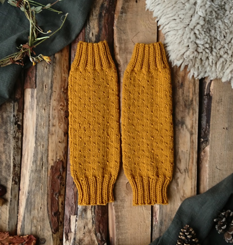 Wool Leg Warmers Ochre