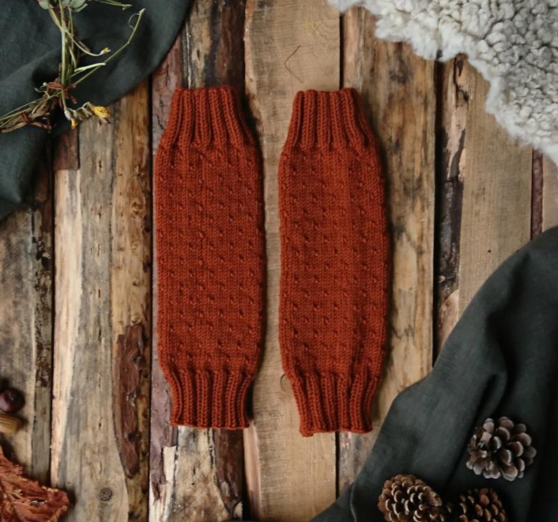 Wool Leg Warmers Terracotta