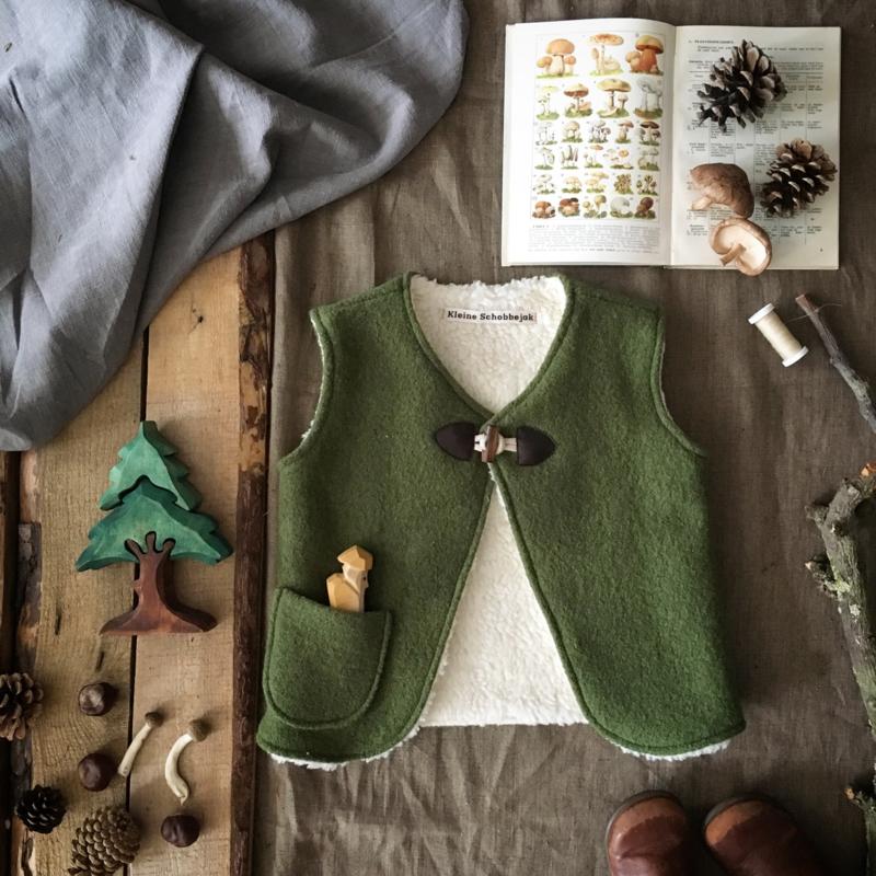 Wool Vest Winter Moss Green