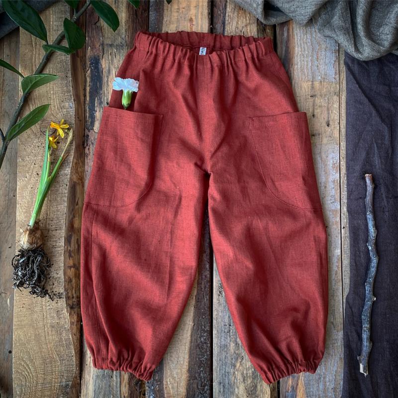Linen Trousers Terracotta