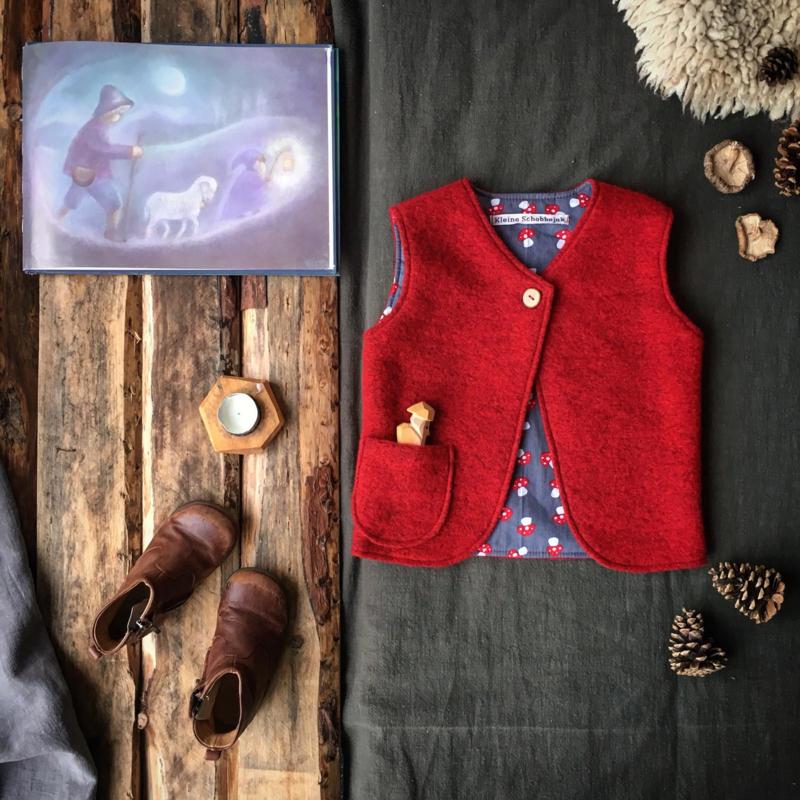 Wool vest Red Toadstool 74/80