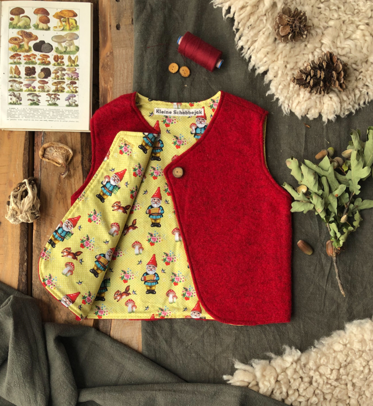 Wool vest Red Gnome 74/80