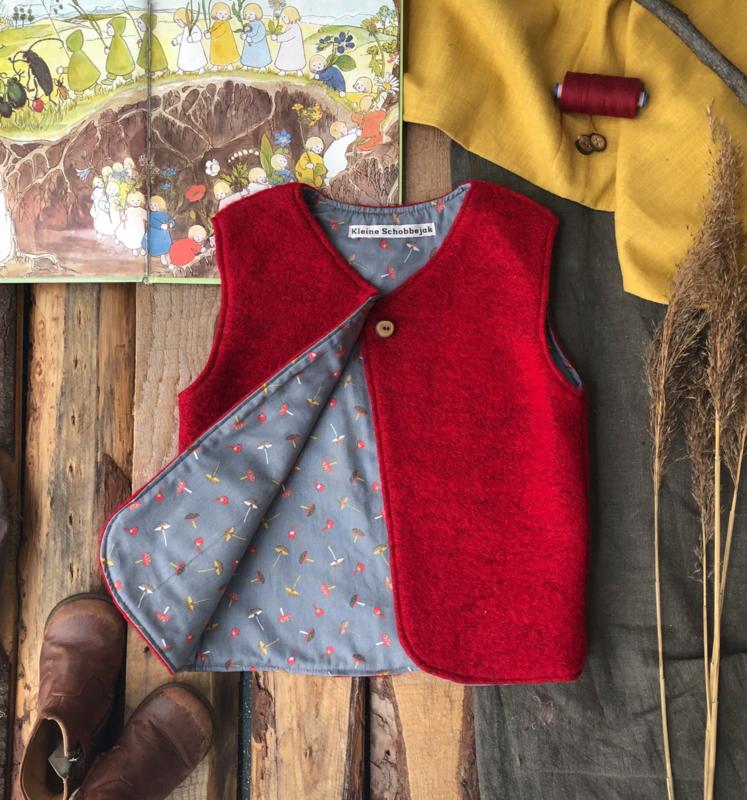 Wool vest Red Toadstool 110/116