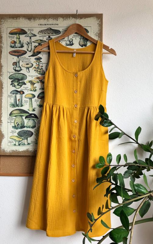 Spring / Summer Dress Double Gauze Ochre