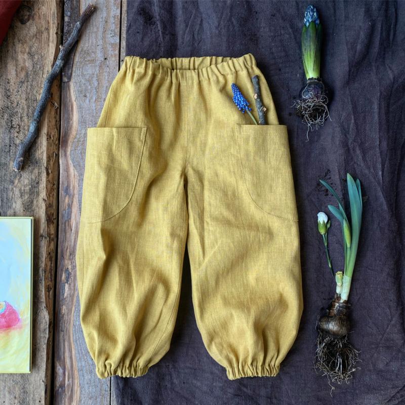 Linen Trousers Ochre