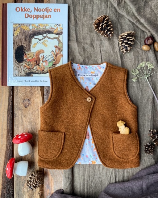 Wool Vest Brown - Little Forest Size 110/116