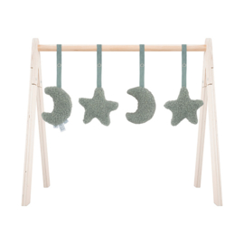 BABYGYM TOYS MOON&STARS - GREEN (4ST)