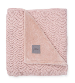 WIEGDEKEN RIVER KNIT - PALE PINK / CORAL FLEECE