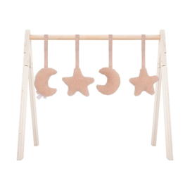 BABYGYM TOYS MOON&STARS - PINK (4ST)