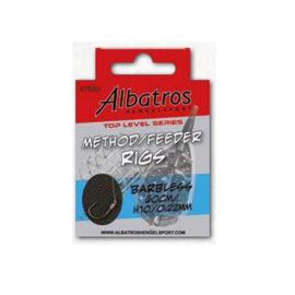 Albatros Method Feeder Rigs barbless 60 cm haak 10 op 0,22 mm