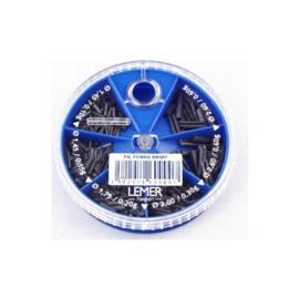 Lemer Super Doux looddraad 6-vaks Fil Fendu Droit (blauw)